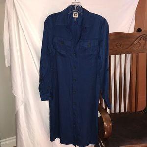 Anne Klein Collared Shirt Dress